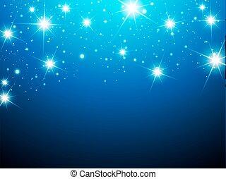 nuit, fond, étoile
