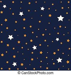 nuit, fond, illustration, étoiles, sky.