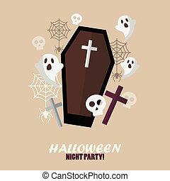 nuit halloween, fête