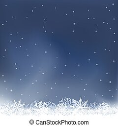 nuit, neige, fond, chutes