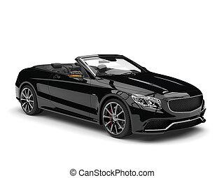 nuit, noir, moderne, luxe, voiture convertible