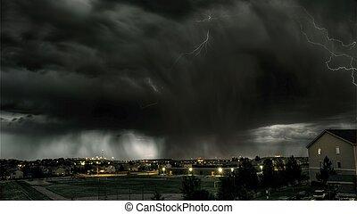 nuit, orage
