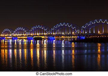 nuit, pont