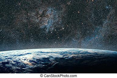 nuit, quelques-uns, nasa., ceci, galaxy., espace, image, eléments terre, ciel, meublé