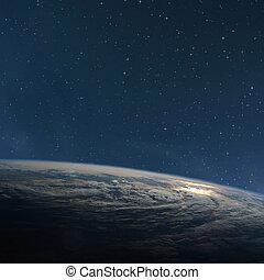 nuit, quelques-uns, nasa., ceci, image, espace, eléments terre, planète, meublé