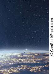 nuit, quelques-uns, nasa., ceci, image, espace, fond, eléments terre, ciel, exploration, meublé