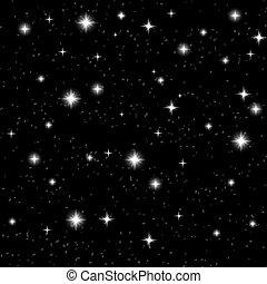 nuit, stars., illustration, galaxie, vecteur, ciel, vector., eps10., sky., space., étoilé
