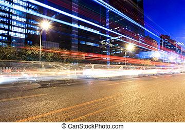 nuit, trafic, heure, beijing, jonc
