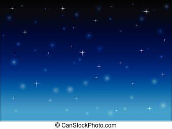 nuit, vecteur, fond, étoiles, sky.