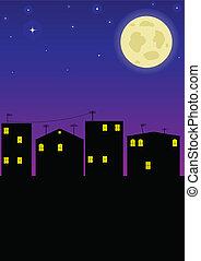 nuit, ville