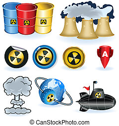Nuke icons - A collection of nine different nuke icons.