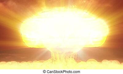 nuke nuclear explosion mushroom - nuclear bomb explosion...