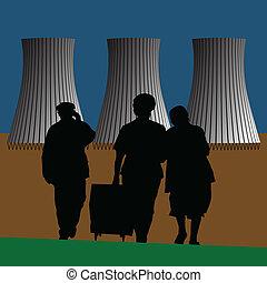 nukleární nechat na holičkách