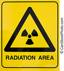 nuklear, Warnung, strahlung, zeichen