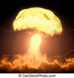 nukleare bombe, explosion
