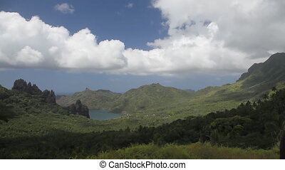 Nuku Hiva - Hatiheu Valley and Bay, Nuku Hiva, Marquesas...