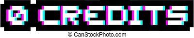 nul, kredieten, visueel symbool