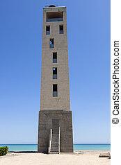 Nules Lighthouse on the beach