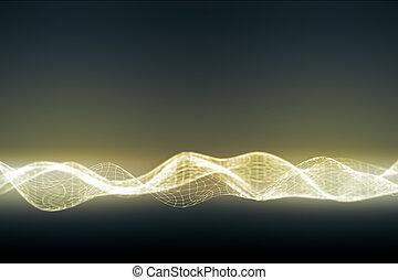 numérique, éclairé, vague