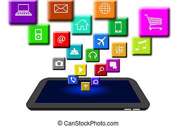 numérique, apps, tablette, échange