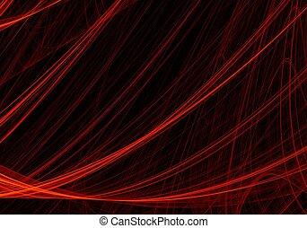 numérique, art abstrait, fractal, rouges