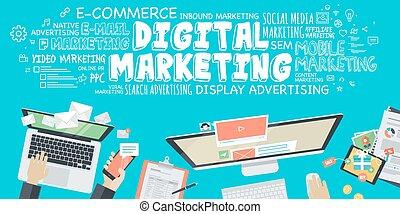 numérique, commercialisation, concept