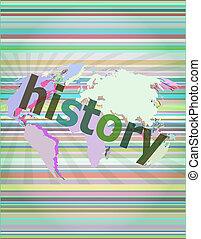 numérique, concept:, fond, histoire, temps