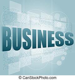 numérique, concept, mots, business, écran
