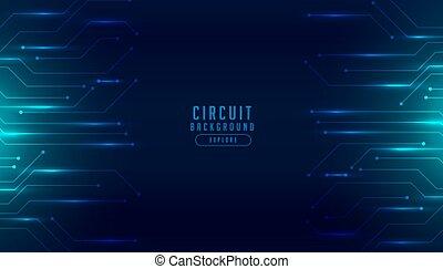 numérique, diagramme, conception, circuit, technologie, fond, futuriste