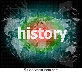 numérique, histoire, concept:, fond, temps