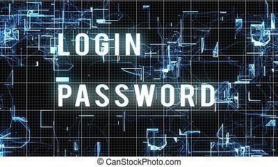 numérique, login, image, mot passe