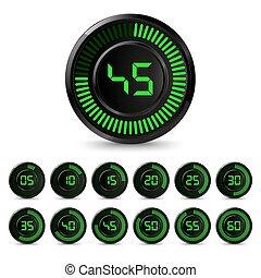 10 stop watch minutes minuteur 10 vecteur minutes clipart vectoriel rechercher - Minuteur 10 minutes ...