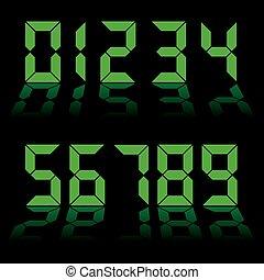 numérique, nombres, horloge