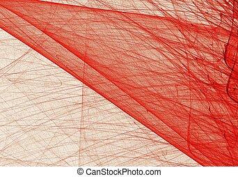numérique, résumé, bleu, art, fractal