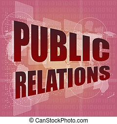 numérique, relations, écran, mots, social, public, concept:,...