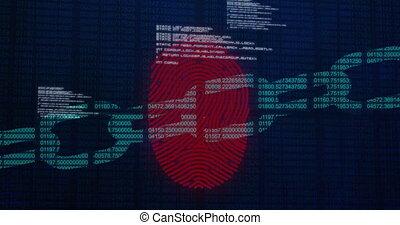 numérique, système, empreinte doigt, sécurité