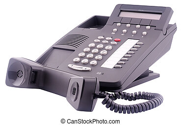 numérique, téléphone, soi, off-hook