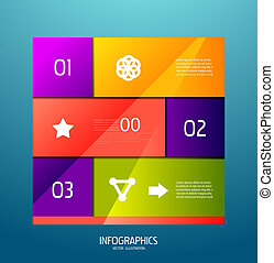 numéroté, éléments, listes, infographic, conception, bannière