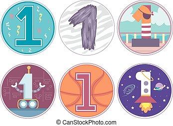 Number 1 Design Pattern 2 Birthday Boy