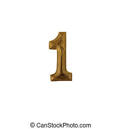 Number 1 made of wood