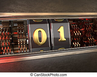 number 1 (number one) style of slot machine