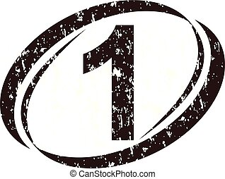 Number 1 Rough Logo