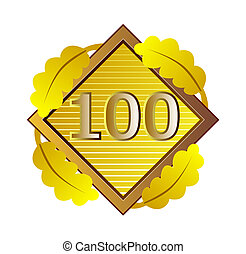 Number 100 in Diamond - Illustration of the number one...