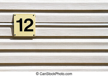 Number 12 on a wall