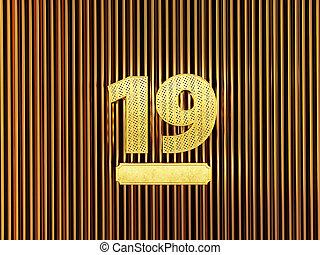 (number, 19, 小さい, 数, nineteen), 穴