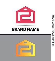 Number 2 logo. Vector logotype