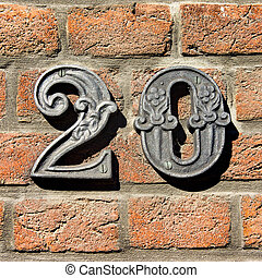 Number 20 - House number twenty (20)