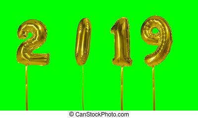 Number 2019 happy new year birthday anniversary celebration...