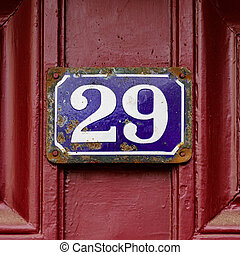 Number 29 - House number twenty nine (29)