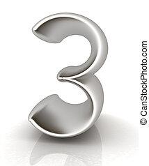 "Number ""3""- three"
